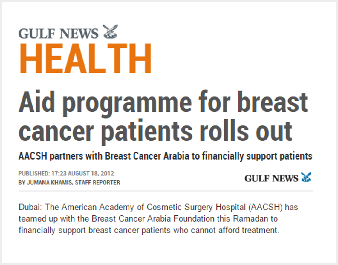 Aid programme for breast cancer patients rolls out