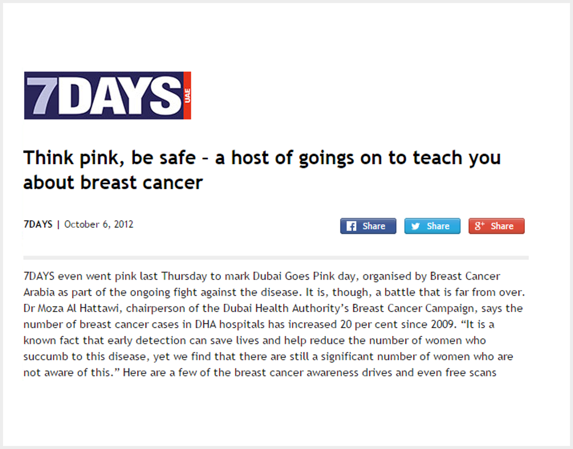 Think pink - be safe