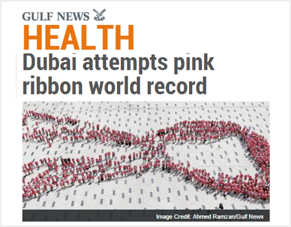 Largest human awareness ribbon - Guinness World Records attempt